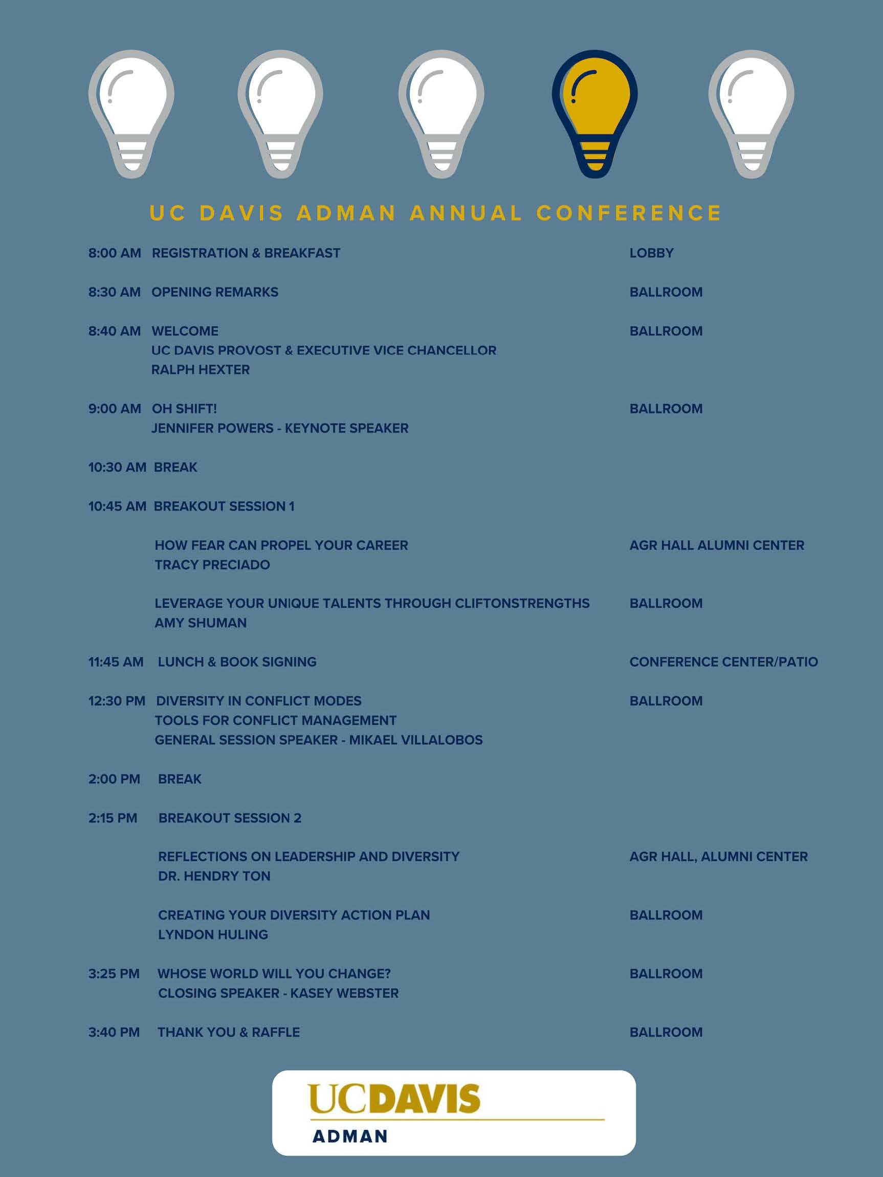 Annual Agenda | Adman Annual Conference Agenda Administrative Management Group